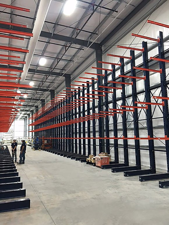 Steel King I-beam cantilever rack